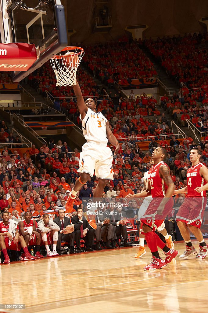 Illinois Brandon Paul (3) in action vs Ohio State at Assembly Hall. David E. Klutho F22 )
