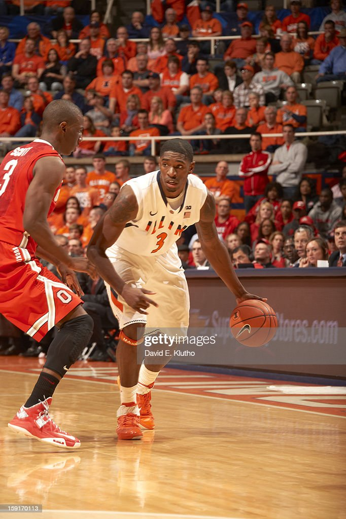 Illinois Brandon Paul (3) in action vs Ohio State at Assembly Hall. David E. Klutho F248 )