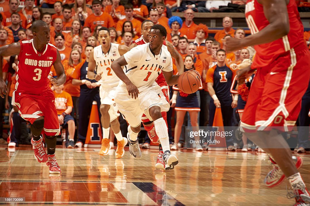 Illinois D.J. Richardson (1) in action vs Ohio State at Assembly Hall. David E. Klutho F237 )
