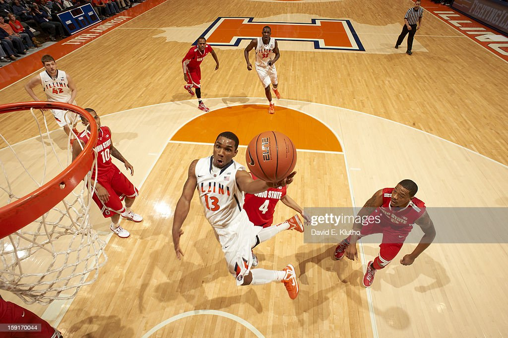 Illinois Tracy Abrams (13) in action vs Ohio State at Assembly Hall. David E. Klutho F41 )