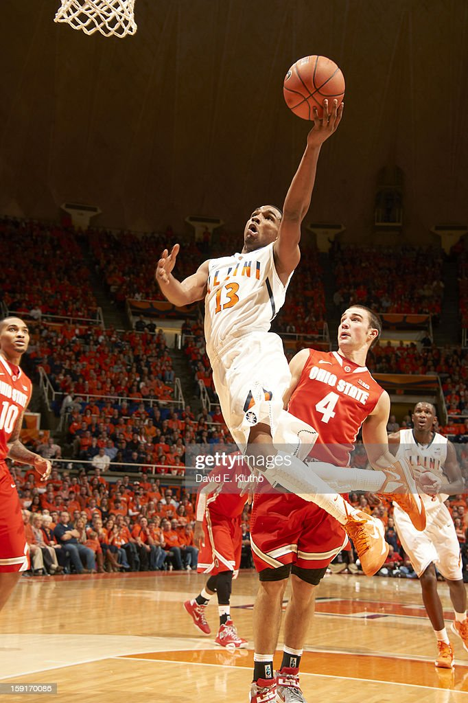 Illinois Tracy Abrams (13) in action vs Ohio State Aaron Craft (4) at Assembly Hall. David E. Klutho F149 )