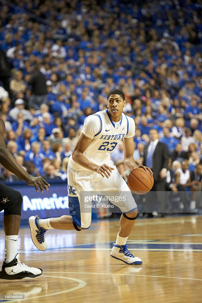 Kentucky Anthony Davis (23) in action vs Vanderbilt at Rupp Arena. David E. Klutho F87 )