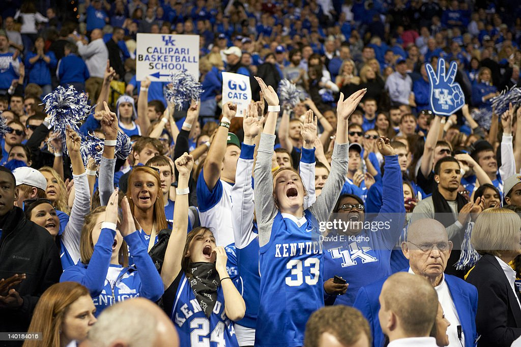 Kentucky fans in stands during game vs Vanderbilt at Rupp Arena. David E. Klutho F153 )