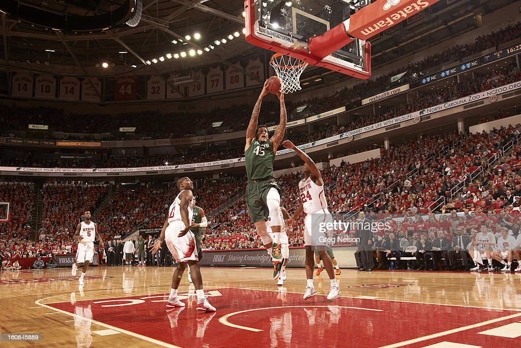 Miami Julian Gamble (45) in action vs North Carolina State at PNC Arena. Greg Nelson F10 )