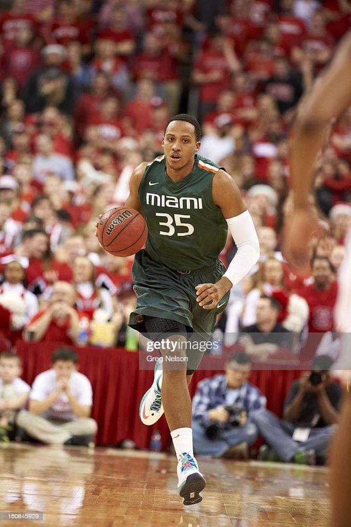 Miami Kenny Kadji (35) in action vs North Carolina State at PNC Arena. Greg Nelson F87 )