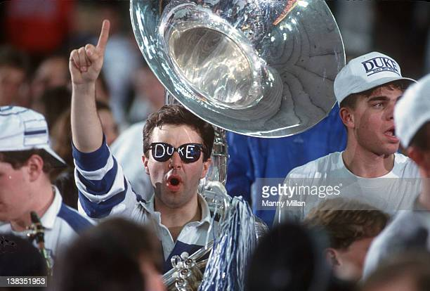 NCAA Final Four Duke band member with tuba wearing sunglasses in stands during game vs UNLV at Hoosier DomeIndianapolis IN 3/30/1991CREDIT Manny...