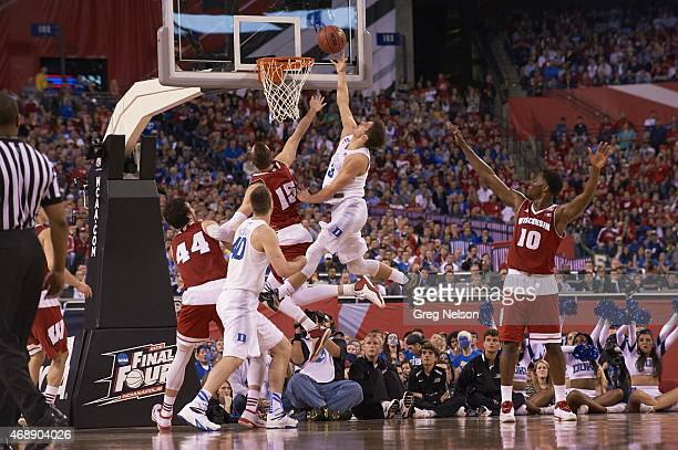 NCAA Final Four Duke Grayson Allen in action shot vs Wisconsin at Lucas Oil Stadium Indianapolis IN CREDIT Greg Nelson