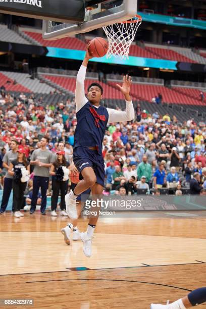 NCAA Final Four Gonzaga Rui Hachimura during practice before National Semifinals at University of Phoenix Stadium Glendale AZ CREDIT Greg Nelson