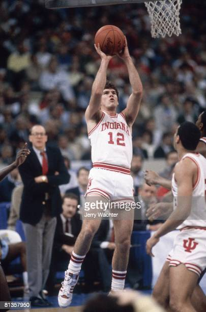 College Basketball NCAA Final Four Indiana Steve Alford in action taking shot vs Syracuse New Orleans LA 3/30/1987
