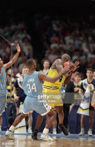 College Basketball NCAA Final Four Michigan Chris Webber calling timeout during game vs North Carolina Webber received technical foul for calling...