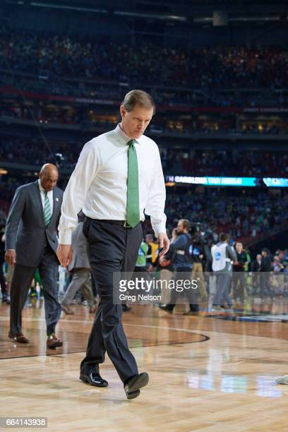 NCAA Final Four Oregon coach Dana Altman walking off court after game vs North Carolina at University of Phoenix Stadium Glendale AZ CREDIT Greg...