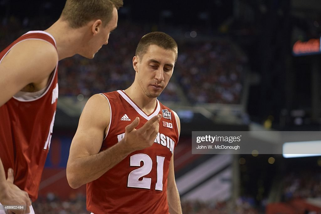Wisconsin <a gi-track='captionPersonalityLinkClicked' href=/galleries/search?phrase=Josh+Gasser&family=editorial&specificpeople=7355332 ng-click='$event.stopPropagation()'>Josh Gasser</a> (21) during injury during game vs Duke at Lucas Oil Stadium. John W. McDonough X159489 TK1 )
