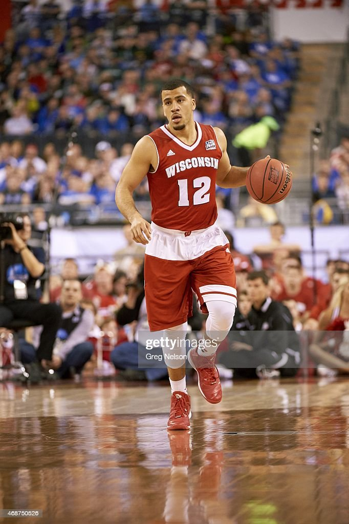 NCAA Final Four Wisconsin Traevon Jackson in action vs Kentucky at Lucas Oil Stadium Indianapolis IN CREDIT Greg Nelson