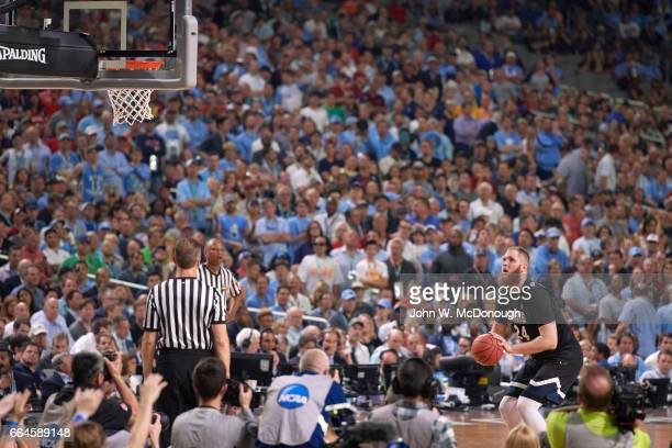 NCAA Finals Gonzaga Przemek Karnowski during free throw vs North Carolina at University of Phoenix Stadium Glendale AZ CREDIT John W McDonough