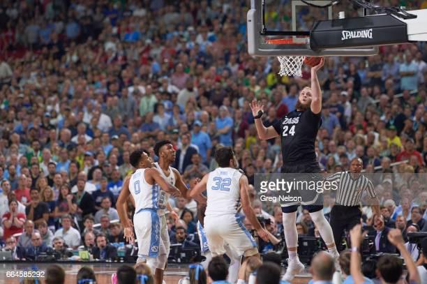 NCAA Finals Gonzaga Przemek Karnowski in action vs North Carolina at University of Phoenix Stadium Glendale AZ CREDIT Greg Nelson