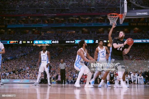 NCAA Finals Gonzaga Przemek Karnowski in action vs North Carolina at University of Phoenix Stadium Glendale AZ CREDIT John W McDonough
