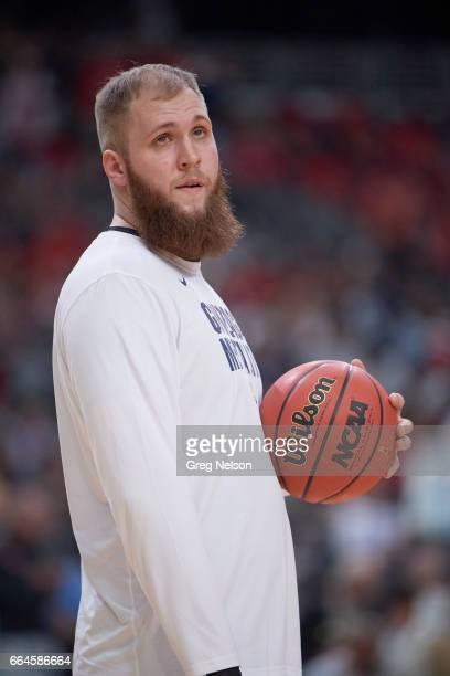 NCAA Finals Gonzaga Przemek Karnowski warming up before game vs North Carolina at University of Phoenix Stadium Glendale AZ CREDIT Greg Nelson