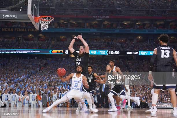 NCAA Finals North Carolina Joel Berry II in action vs Gonzaga Przemek Karnowski at University of Phoenix Stadium Glendale AZ CREDIT Greg Nelson
