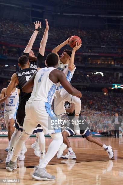 NCAA Finals North Carolina Justin Jackson in action vs Gonzaga Przemek Karnowski at University of Phoenix Stadium Glendale AZ CREDIT Greg Nelson