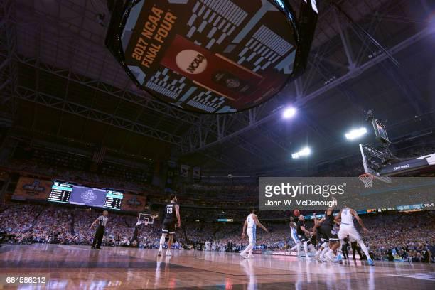 NCAA Finals North Carolina Theo Pinson in action vs Gonzaga Przemek Karnowski at University of Phoenix Stadium Glendale AZ CREDIT John W McDonough