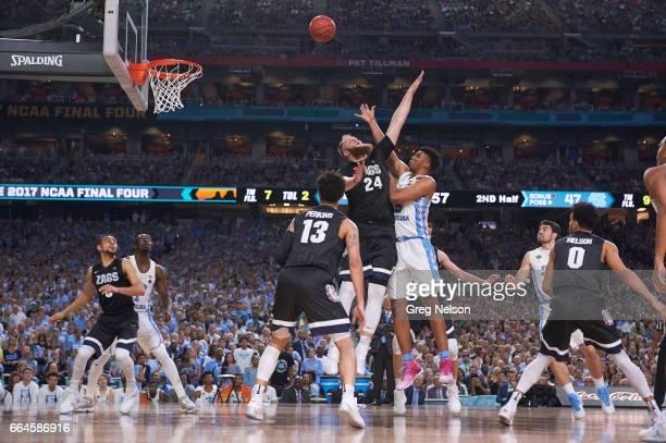 NCAA Finals North Carolina Tony Bradley in action vs Gonzaga Przemek Karnowski at University of Phoenix Stadium Glendale AZ CREDIT Greg Nelson