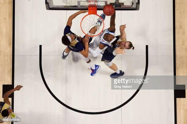 NCAA Playoffs Aerial view of Kansas Carlton Bragg Jr in action vs California Davis at BOK Center Tulsa OK CREDIT Greg Nelson