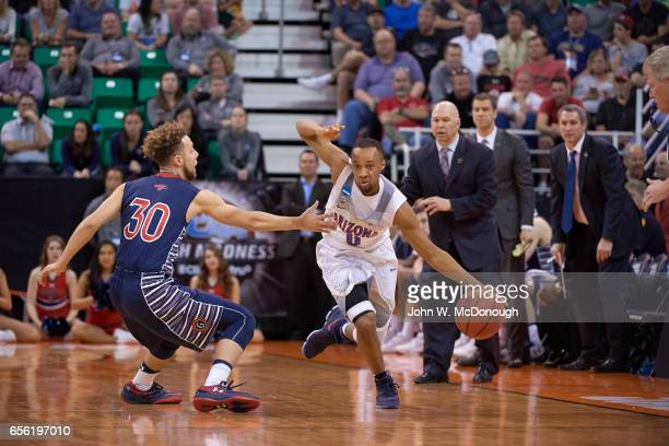 NCAA Playoffs Arizona Parker JacksonCarrtwright in action vs St Mary's at Vivint Smart Home Arena Salt Lake City UT CREDIT John W McDonough