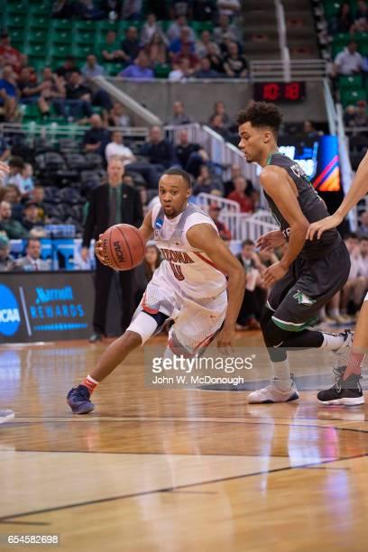 NCAA Playoffs Arizona Parker JacksonCartwright in action vs North Dakota at Vivint Smart Home Arena Salt Lake City UT CREDIT John W McDonough
