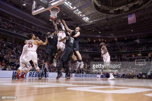NCAA Playoffs Arizona Rawle Alkins in action vs Xavier Trevon Bluiett at SAP Center San Jose CA CREDIT John W McDonough