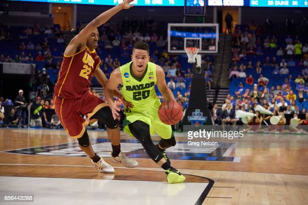NCAA Playoffs Baylor Manu Lecomte in action vs USC De'Anthony Melton at BOK Center Tulsa OK CREDIT Greg Nelson