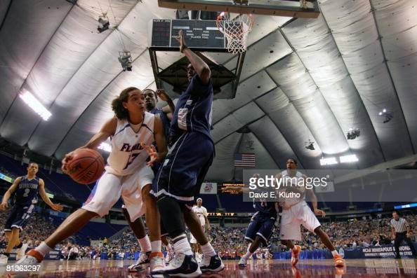 College Basketball NCAA Playoffs Florida Joakim Noah in action vs Georgetown Minneapolis MN 3/24/2006