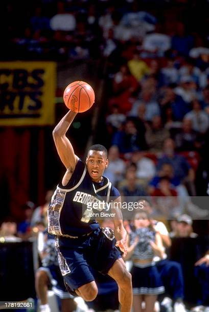 NCAA Playoffs Georgetown Allen Iverson in action vs North Carolina at BJCC Arena Birmingham AL CREDIT John Biever