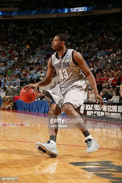 College Basketball NCAA Playoffs Georgetown Patrick Ewing Jr in action vs Davidson Raleigh NC 3/23/2008
