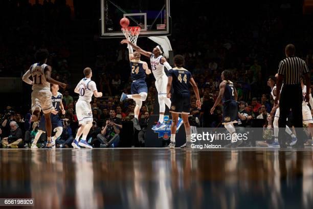 NCAA Playoffs Kansas Carlton Bragg Jr in action defense vs California Davis Mikey Henn at BOK Center Tulsa OK CREDIT Greg Nelson