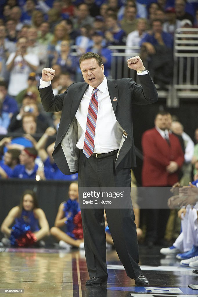 Kansas head coach Bill Self on sidelines during game vs North Carolina at Sprint Center. David E. Klutho X156306 TK1 R3 F75 )