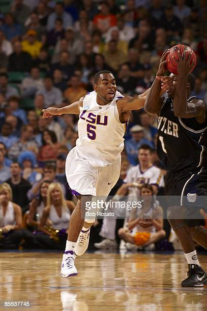 NCAA Playoffs Louisiana State Marcus Thornton in action vs Butler Greensboro NC 3/19/2009 CREDIT Bob Rosato