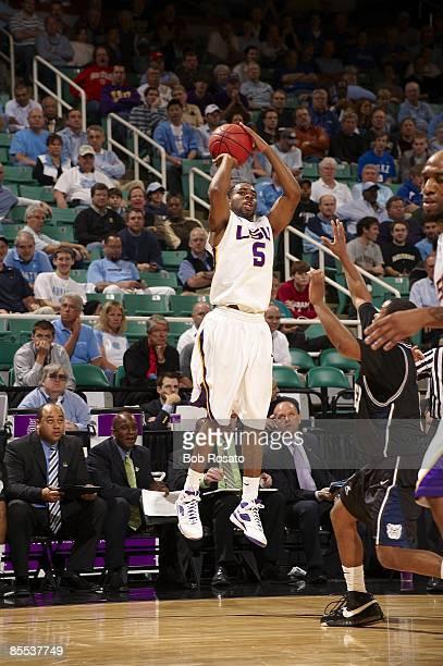 NCAA Playoffs Louisiana State Marcus Thornton in action shot vs Butler Greensboro NC 3/19/2009 CREDIT Bob Rosato