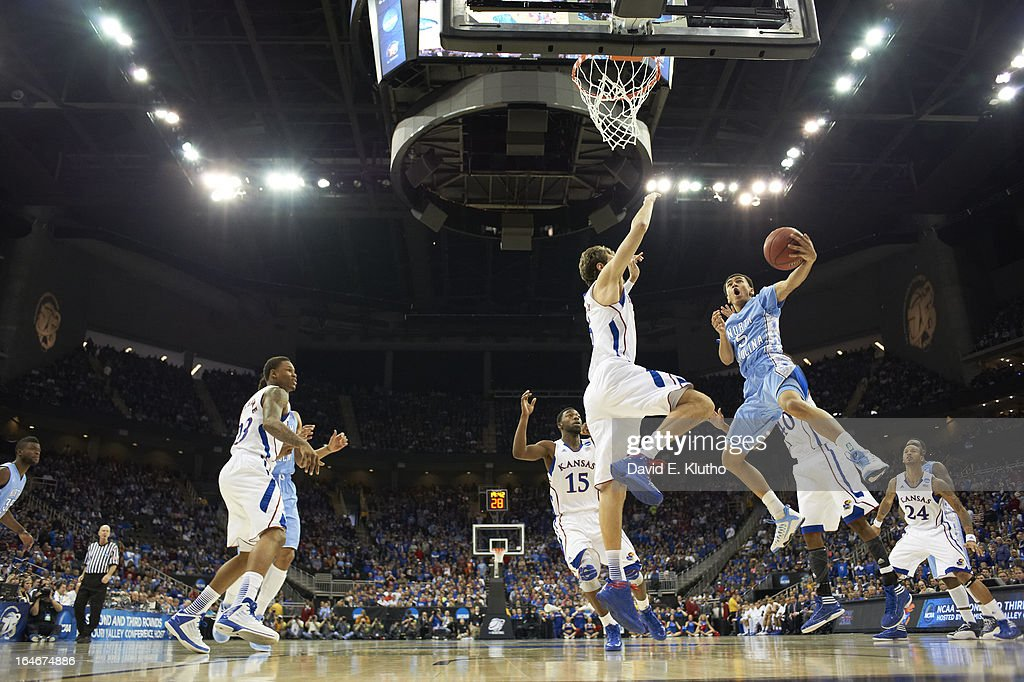 North Carolina Marcus Paige (5) in action vs Kansas at Sprint Center. David E. Klutho F6 )