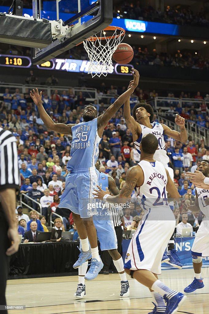 North Carolina Reggie Bullock (35) in action vs Kansas at Sprint Center. David E. Klutho X156306 TK1 R17 F55 )