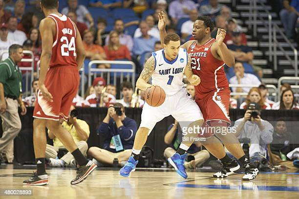 NCAA Playoffs Saint Louis Grandy Glaze in action vs North Carolina State BeeJat Anya at Amway Center Orlando FL CREDIT Bill Frakes