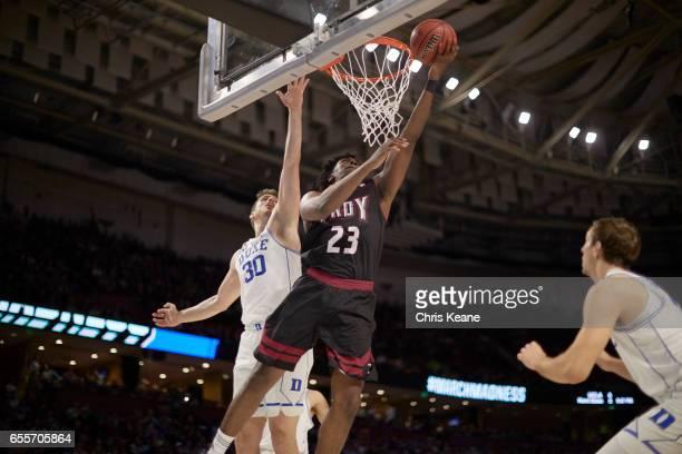 NCAA Playoffs Troy Jordon Varnado in action vs Duke Antonio Vrankovic at Bon Secours Wellness Arena Greenville SC CREDIT Chris Keane