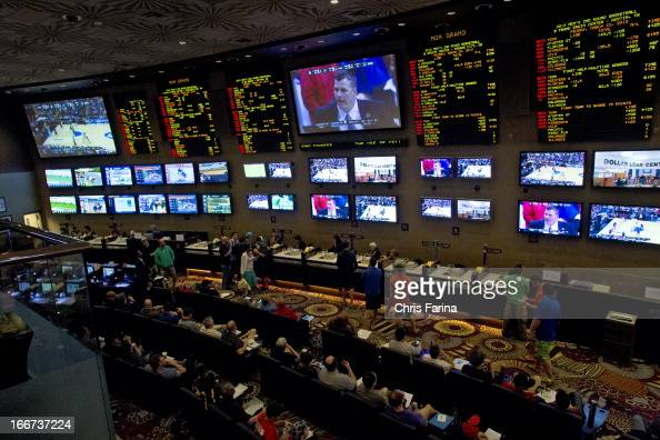 NCAA Playoffs View of sports book patrons betting on March Madness games at MGM Grand Hotel Casino Las Vegas NV CREDIT Chris Farina