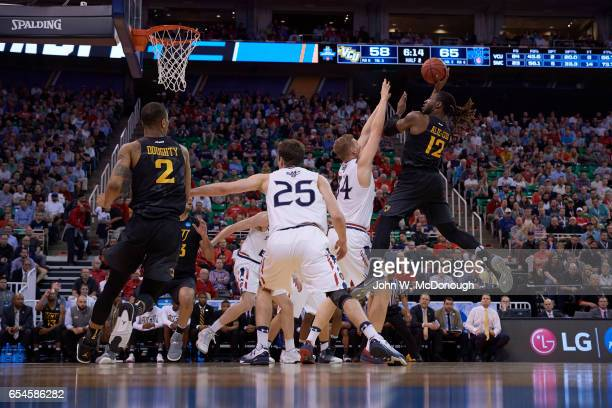 NCAA Playoffs Virginia Commonwealth Mo AlieCox in action vs St Mary's at Vivint Smart Home Arena Salt Lake City UT CREDIT John W McDonough