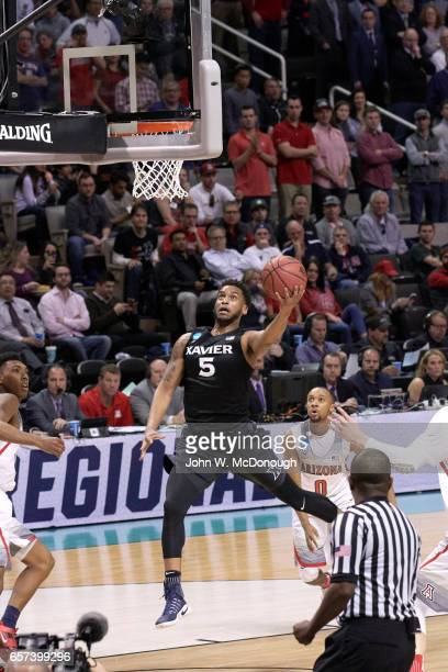 NCAA Playoffs Xavier Trevon Bluiett in action vs Arizona at SAP Center San Jose CA CREDIT John W McDonough