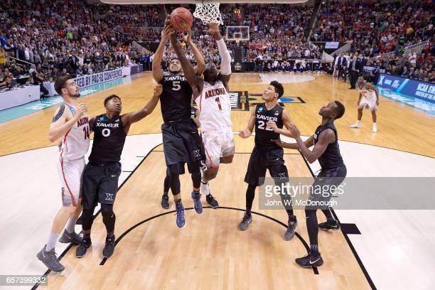 NCAA Playoffs Xavier Trevon Bluiett in action vs Arizona Parker JacksonCartwright at SAP Center San Jose CA CREDIT John W McDonough