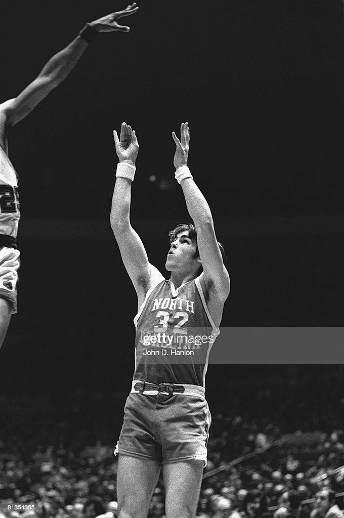 College Basketball NIT Tournament North Carolina Darrell Elston in action taking shot vs Notre Dame New York NY 3/25/1973