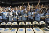 North Carolina fans in stands during game vs Duke Chapel Hill NC 2/10/2010 CREDIT John W McDonough