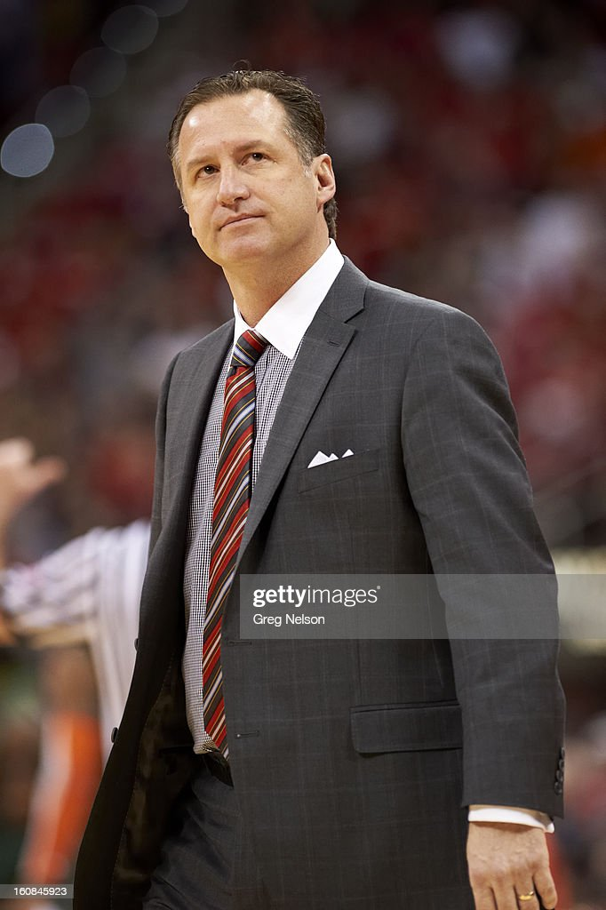 North Carolina State coach Mark Gottfried during game vs Miami at PNC Arena. Greg Nelson F22 )