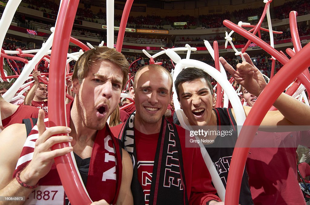 North Carolina State fans in stands during game vs Miami at PNC Arena. Greg Nelson F6 )