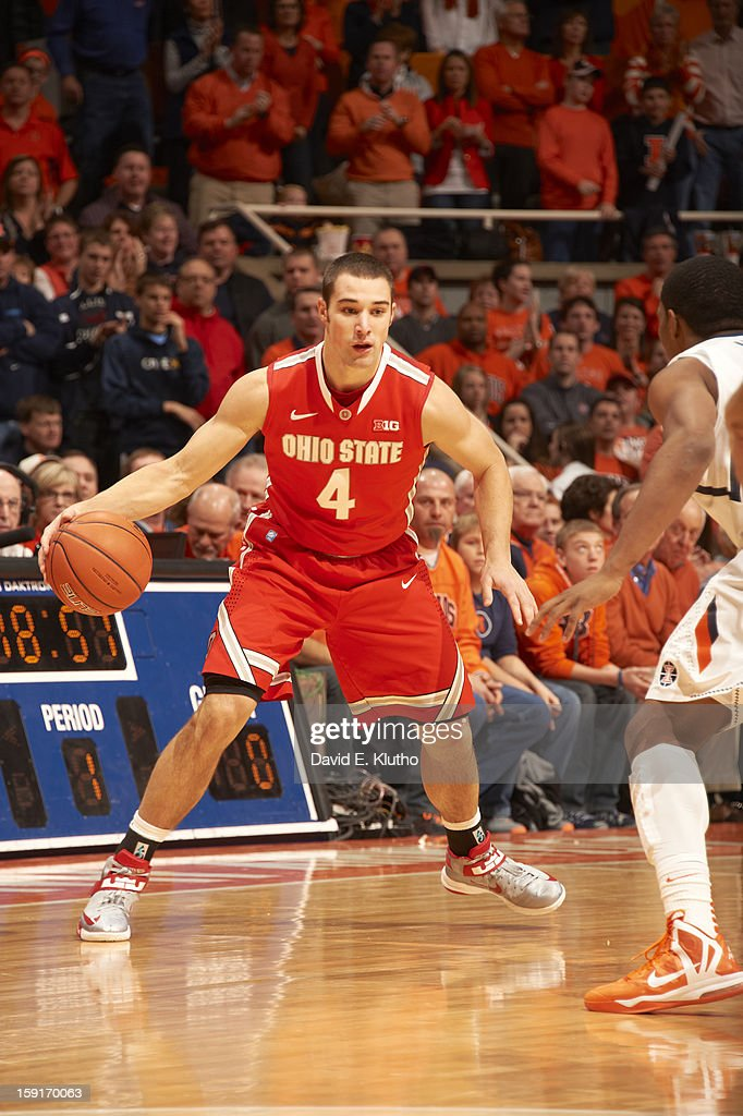 Ohio State Aaron Craft (4) in action vs Illinois at Assembly Hall. David E. Klutho F7 )